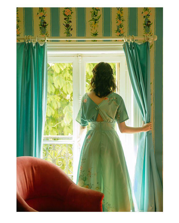 "Vintage Inspired Dress ""Green Green"" 뒷모습이 더 예쁜 옥색의 빈티지 웨딩스냅 드레스 더 자세한 사항은 http://blog.naver.com/bsbgirlj/220728642874   돌잔치 브라이덜샤워 소규모 결혼식 스몰웨딩 드레스 하우스웨딩 피로연 허니문 스냅 프로필 촬영 드레스  웨딩스냅 셀프웨딩 신혼여행 원피스 돌드레스 맘드레스  샌프란시스코 스냅"