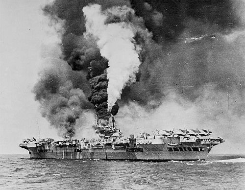 HMS FORMIDABLE | HMS FORMIDABLE on fire after she was struck… | Flickr