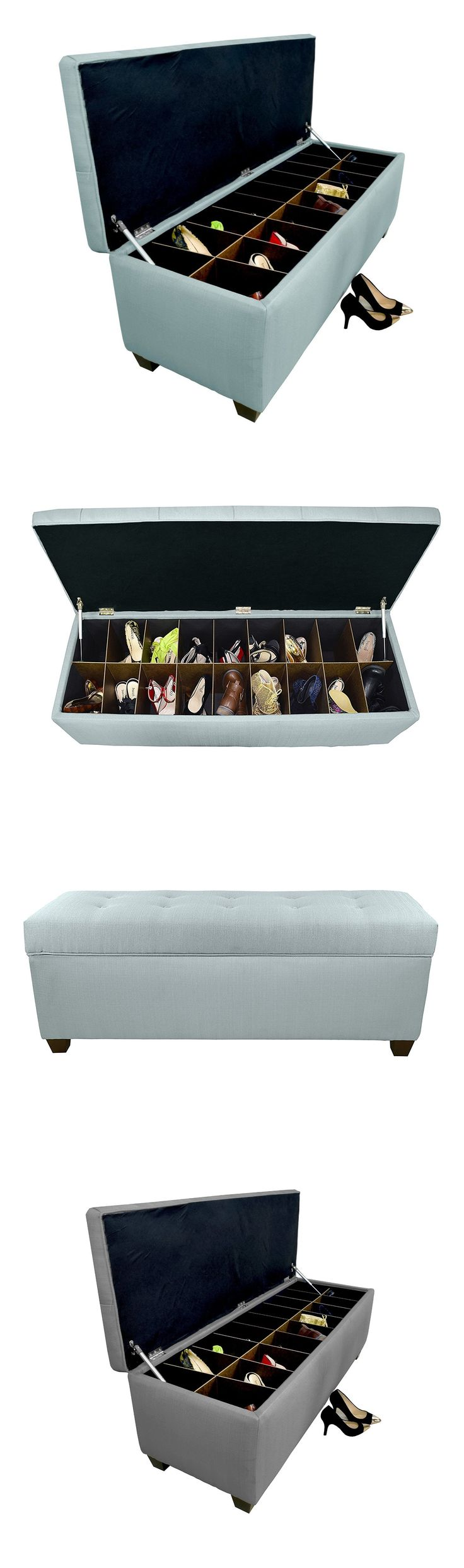The Sole Secret Button Tufted Ottoman with Shoe Storage | Craze Trend