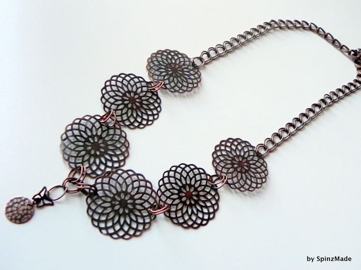 Collana a catena copper mix di SpinzMade su DaWanda.com
