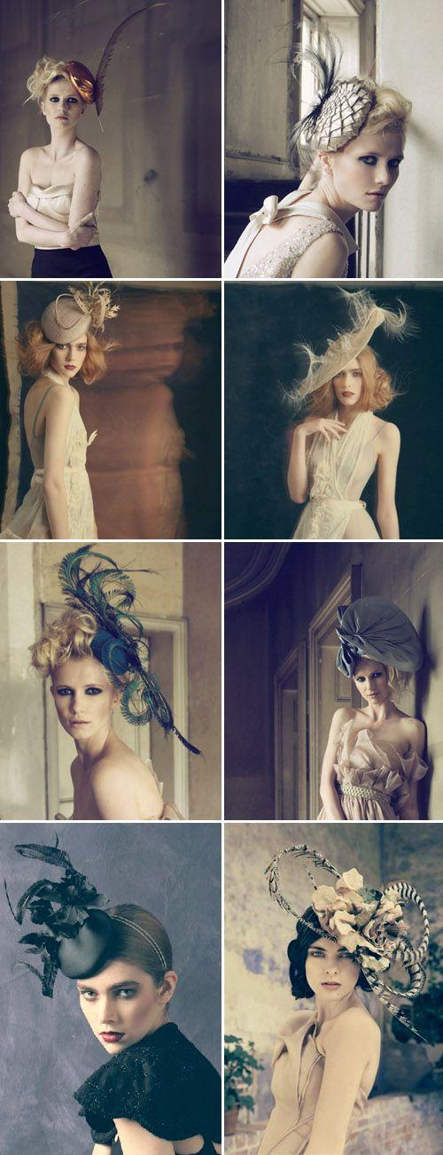 beautiful wedding fascinators and hats from British designer Jane Taylor Millinery via JunebugWeddings.com