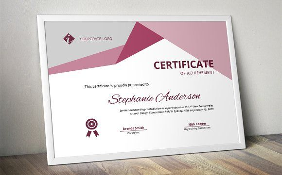 Word docx certificate template by Inkpower on @creativemarket