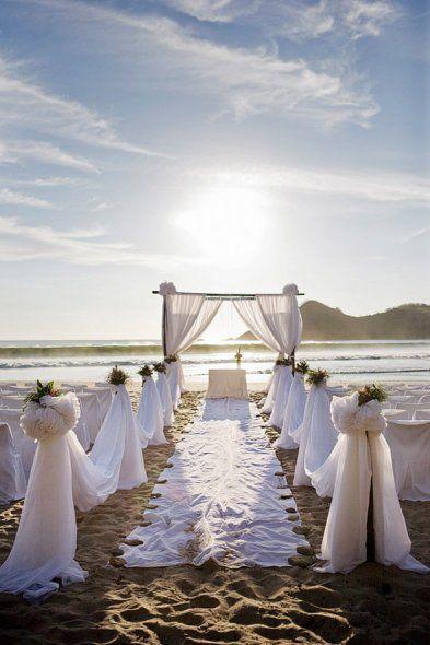 Beach Ceremony, Beaches And Beach Weddings On Pinterest