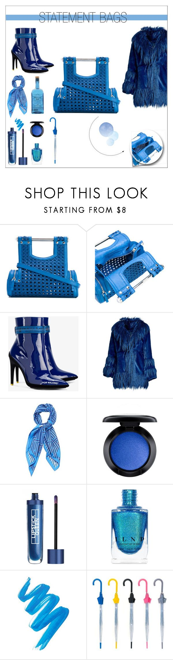 """""""Song sung blue, everybody knows one !"""" by onenakedewe ❤ liked on Polyvore featuring Corto Moltedo, Post-It, Off-White, Anna Sui, Hermès, MAC Cosmetics, Lipstick Queen and L.A. Girl"""