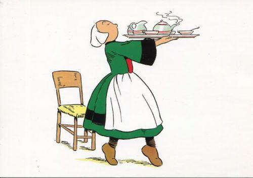 Becassine Sert le thé