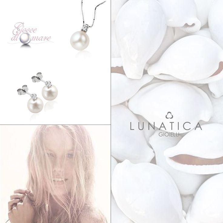 #goccedimare #perle #pearls #sea #mood #wave #sun #jewellery #pearljewelry #pendant #earrings #diamonds #lunatica #lunaticagioielli #shine #mood #summer #shine #trendy #fashion #cool #roma #rome #handmade #inspiration #outfit