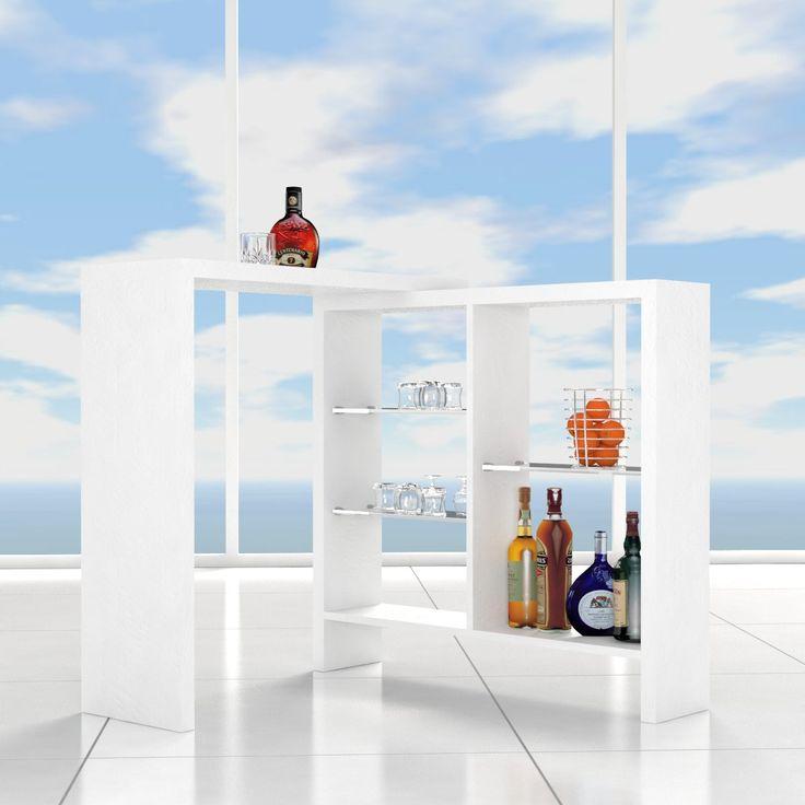 Mensola - tavolo minibar per interno. Arredo innovativo e di design, dona all'ambiente domestico una nuova funzione, diventando parte integrante del living, della cucina-sala pranzo, o del garage. Utilizzabile come arredo freestanding, come mobile a parete o ad angolo, a seconda delle vostre esigenze, grazie al movimento rotativo della mensola tavolo. Realizzato in legno melaminico di qualità 100% made in italy, come la produzione e l' assemblaggio, prodotto esclusivamente da Ve.Ca srl. Il…
