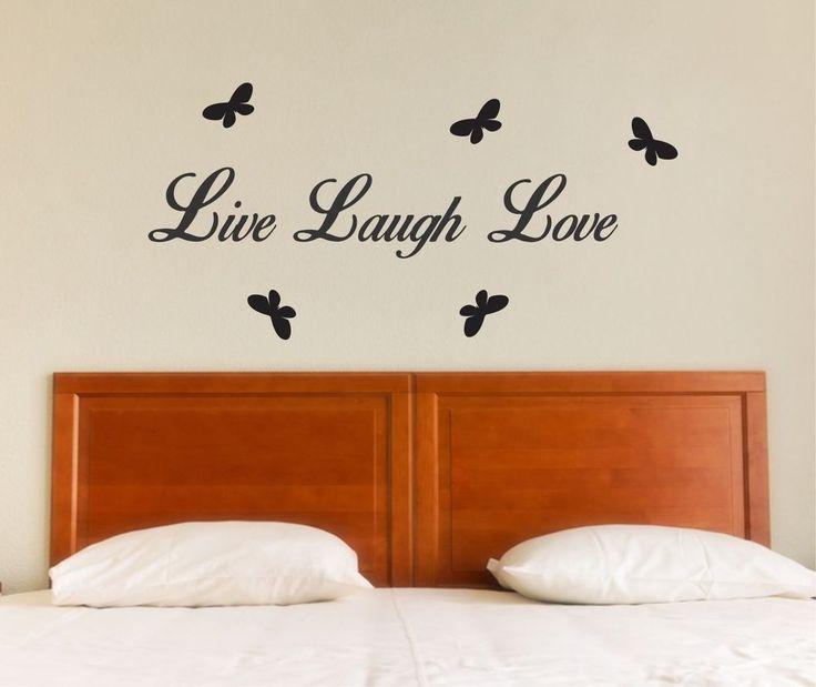 Live Laugh Love butterflies - 100cm Wall Art Sticker Decal bedroom lounge