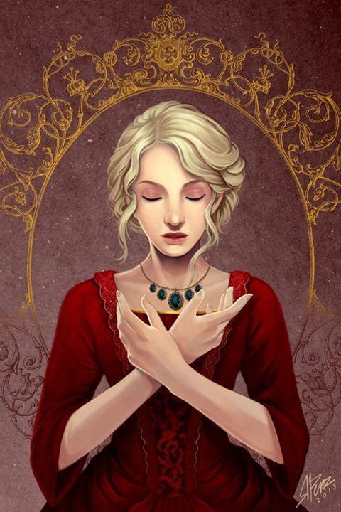 """Era quasi ridicolmente graziosa, quella che in uno dei suoi romanzi si sarebbe definita """"una rosa inglese"""", con i capelli di un biondo argenteo, dolci occhi color nocciola e carnagione vellutata."""