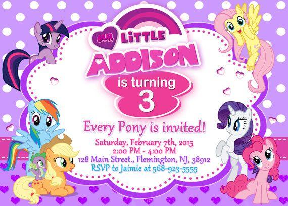 Mi pequeño Pony invitación cumpleaños por ForLittleKids en Etsy