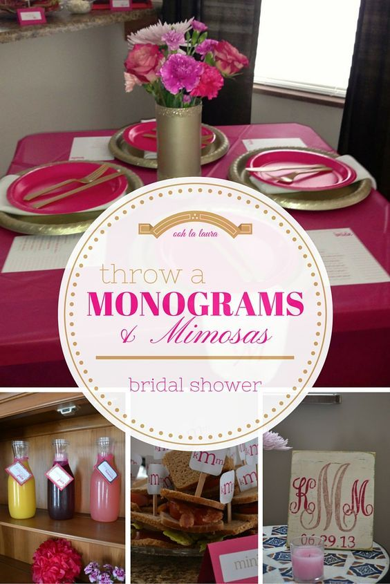 Monograms & Mimosas Bridal Shower - awesome idea too!!! Check out the whole blog for some neat ideas!!!