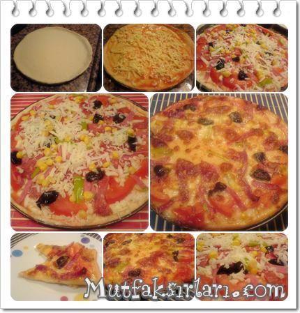 Sırf bu yüzden rejimden oldum :) Gerçekten dört dörtlük bir pizza oldu, işin tüm sırrı hamuru ince açmakta.Mutlaka denemenizi tavsiye ederim. Malzemeler: İçmalzemesi: salam sucuk taze kaşar peyniri 1 adet yeşil biber 1 adet ortaboy…
