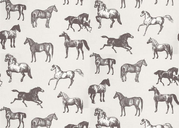 Design Covet Cup Inspired Est Living Horse Wallpaper Pattern Art Horse Pattern