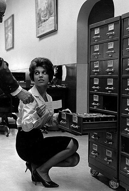 Vintage retro secretary