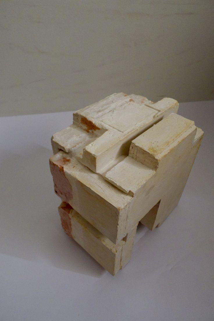 plaster cast of negative space