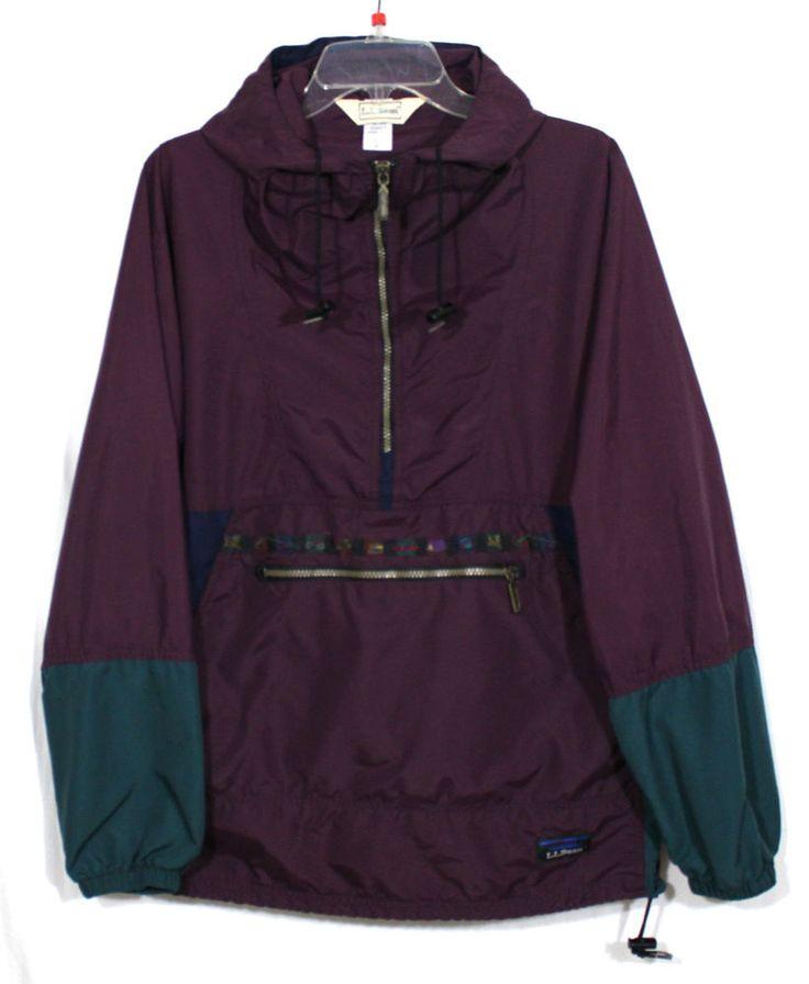 LL BEAN Women's Vintage South West Look Windbreaker Jacket Multi Color USA SZ S #llbean #Windbreaker