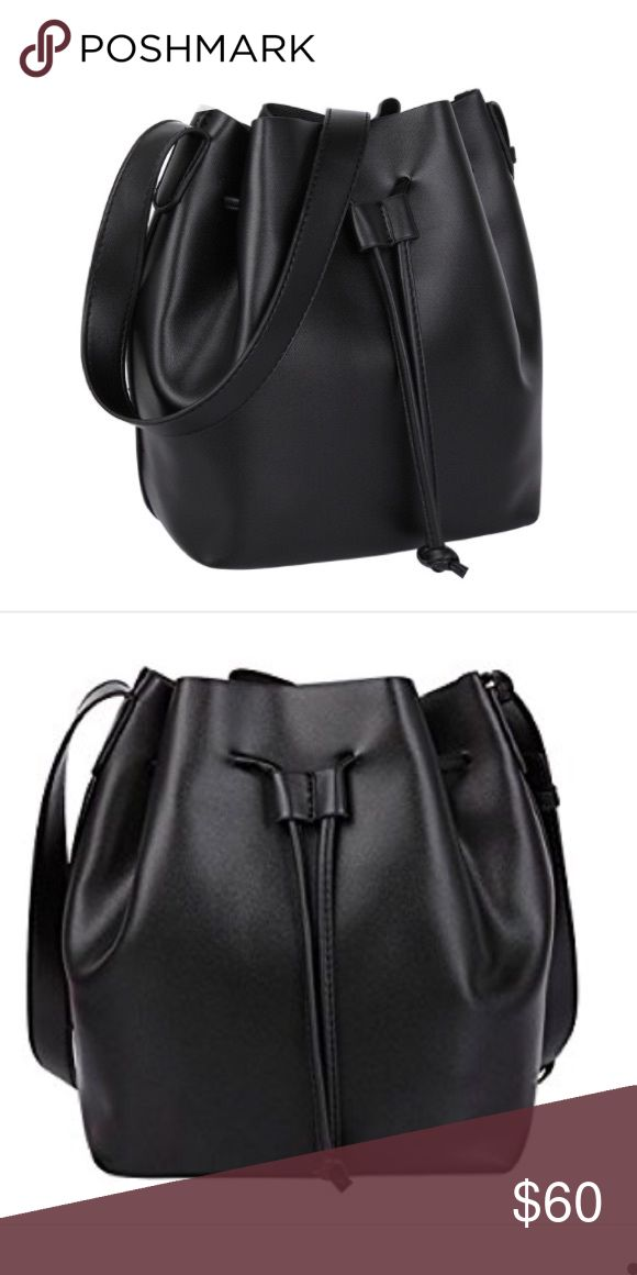 Melie bianco black olly bucket bag All vegan bucket bag! Melie bianco black olly bucket bag brand new never used or worn. Received this as gift but already have a similar bag! Super trendy and perfect for anyone who likes to carry lots of stuff in her purse :) Melie Bianco Bags Crossbody Bags