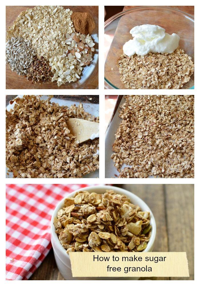 Finally- a sugar free granola recipe! Perfect for breakfast!