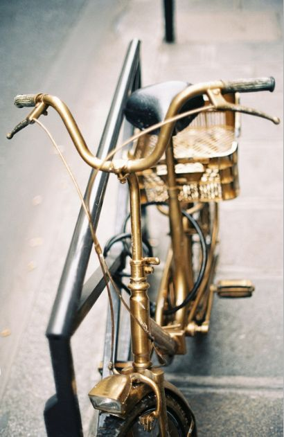 golden bicycle.