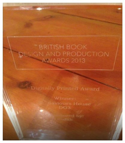 And the winner for Digitally printed book at the British book design and production awards 2013 goes to...DG3! Well done to all those who took part. We couldn't be more proud right now. So excited to see what our brand new indigo digital printer may bring us next year!