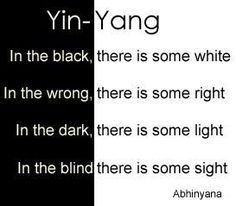 yin and yang quotes - Google Search