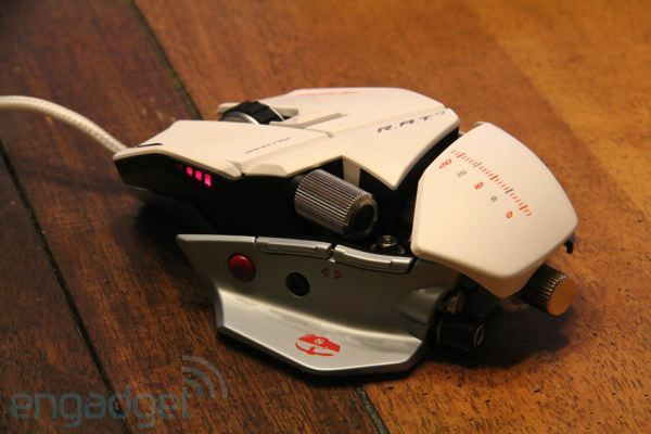 Mad Catz Cyborg Rat Albino (mouse) for Gaming and utter awesomeness.