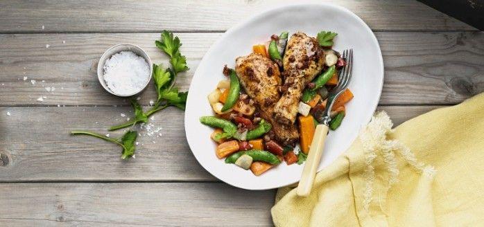 Kylling i grønnsaksform