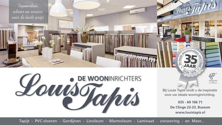 Louis Tapis. advertentie ontwerp. Verzorgd door Jochem Albrecht van Reclamebureau Holland.
