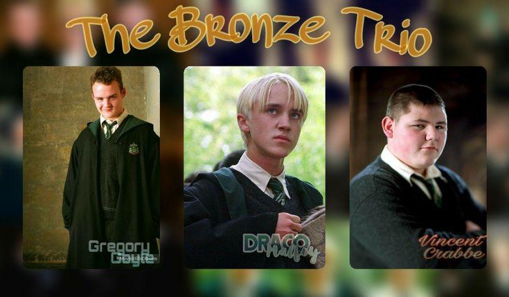 The Bronze Trio Hogwarts Harry Potter Aesthetic Trio