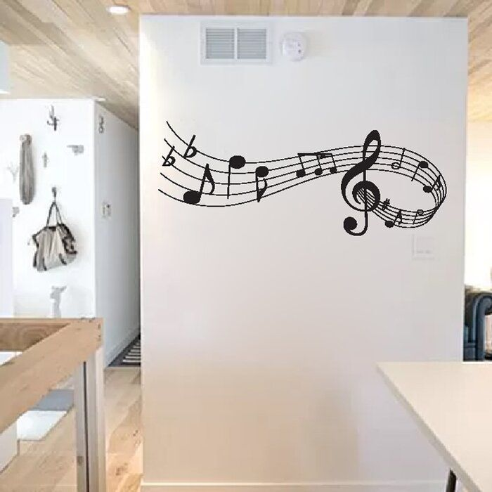 Labrie Music Notes Vinyl Wall Decal In 2020 Vinyl Wall Decals