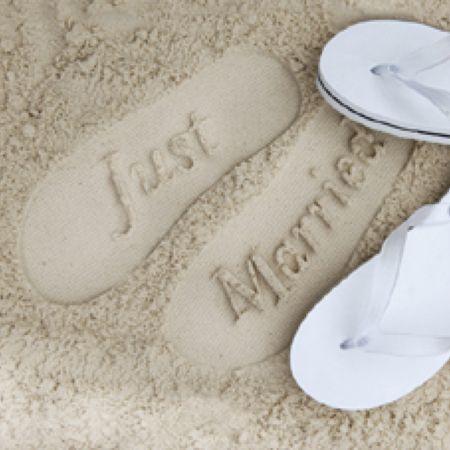 ウェディングビーチサンダル - 結婚式のフォトプロップス通販 EYMwedding