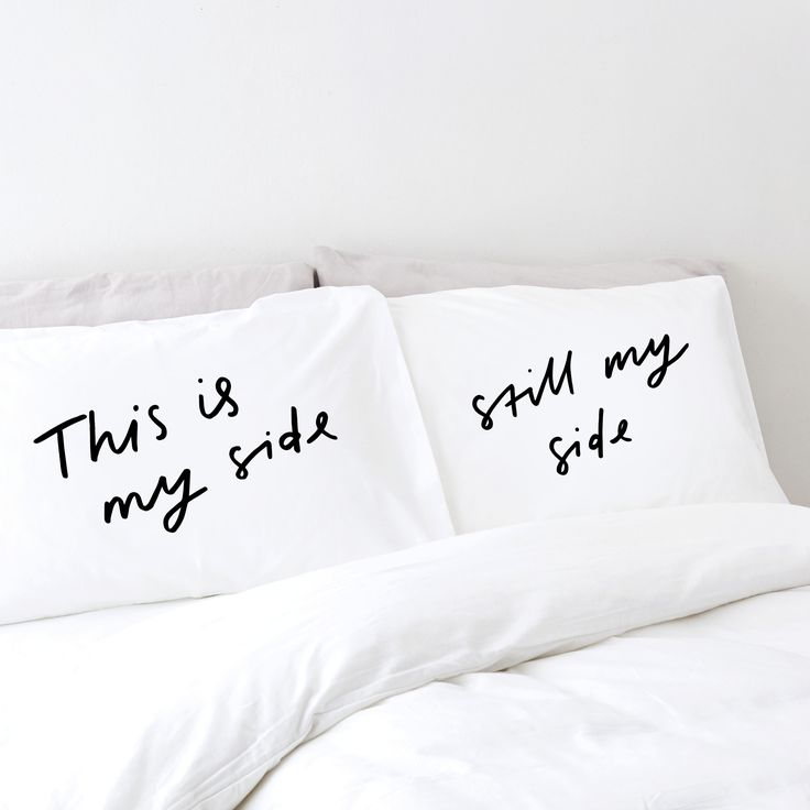 My side pillowcases!