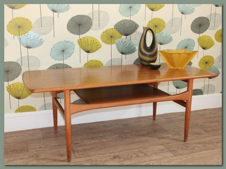 Table basse scandinave vintage  en teck