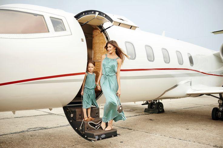 Freddo - Turquoise cupro Dress, for mom and daughter #summerdress #elegantdresses #fashionmom #likemotherlikedaughter #matchingmotherandme #sukienkadlamamyicorki #matkaicorka