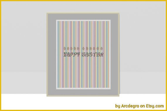 Happy Easter Printable by ArcDeGra on Etsy