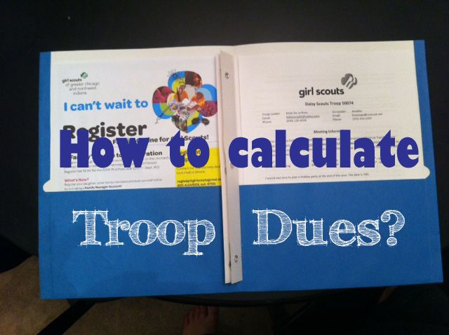 One of the biggest questions I had starting out as a troop leader was how  much do I charge for troop dues. It's not a number that you can just pull  out of the air and if you are new to troop leading you might have similar  questions like me.  What are troop dues?  Troop dues are what your girl scouts pay in addition to the yearly  membership to keep the troop alive. When you first start your troop you  will need to open a bank account. Running a troop cost money and it should  never be at…
