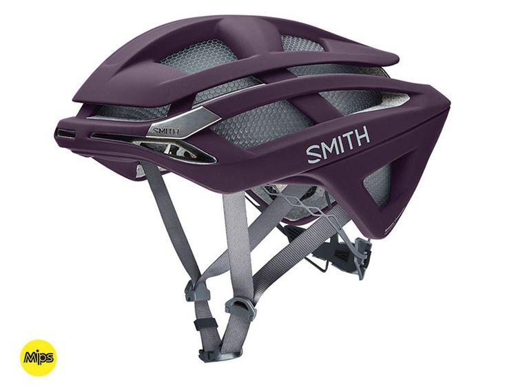 Smith - Overtake Matte Black Cherry - MIPS Bike Helmet