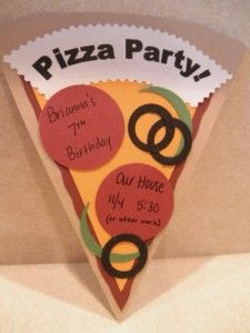 another cute pizza party invite