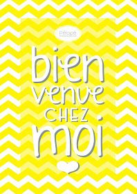 Pélopé Shop: Prints: Bienvenue Chez Moi
