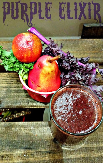 "Purple Elixir green smoothie for ""Spring Cleaning"""