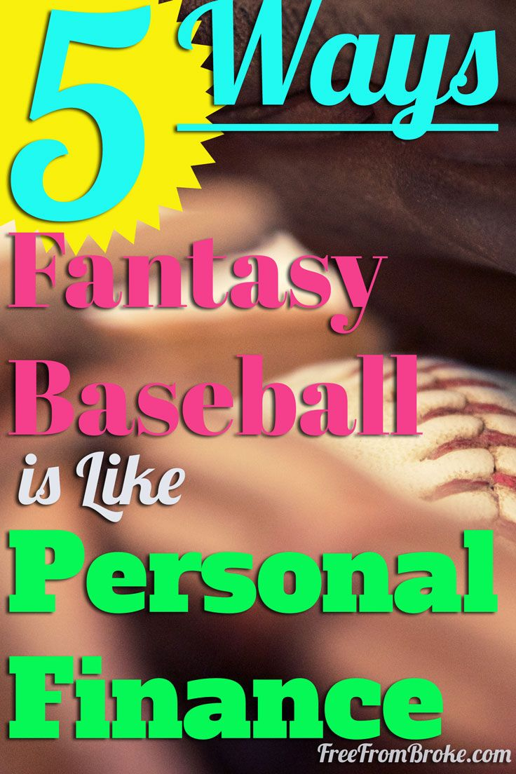 I realized there were many similarities between fantasy baseball and personal finance! Click through and see five qualities they share. http://freefrombroke.com/five-ways-fantasy-baseball-is-like-personal-finance/