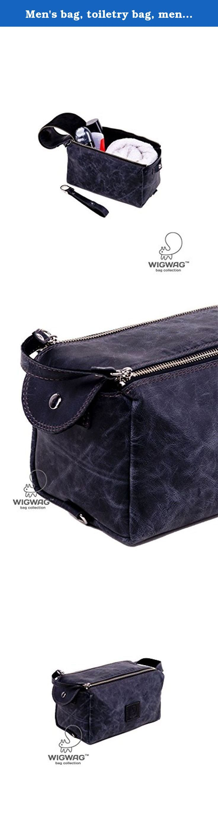 Men's bag, toiletry bag, mens toiletry bag, dopp kit, travel bag, leather travel bag, leather bag, handle men's bag, men's leather bag. Men's toiletry bag, made of genuine leather. This bag closes on two parallel-arranged metal zipper (this closure system is the most convenient for this bag). The valve is fixed with a button when it is close. Inside of the toiletry bag there is a genuine suede. The bag has a handle for easy carring. This bag made of genuine leather. It is designed for...