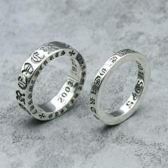 [ 50% OFF ] Sterling Silver Jewelry Restoring Ancient Ways Fashion Letter Punk Ring For Man