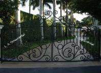 Automatic Aluminum Driveway Gate | Automatic Wrought Iron Driveway Gate