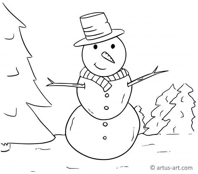 Schneemann Malvorlagen Winter Druckbare Winter Schneemann Winterfarbung Seite Druckba Schneemann Wenn Du Mal Buch Malvorlagen