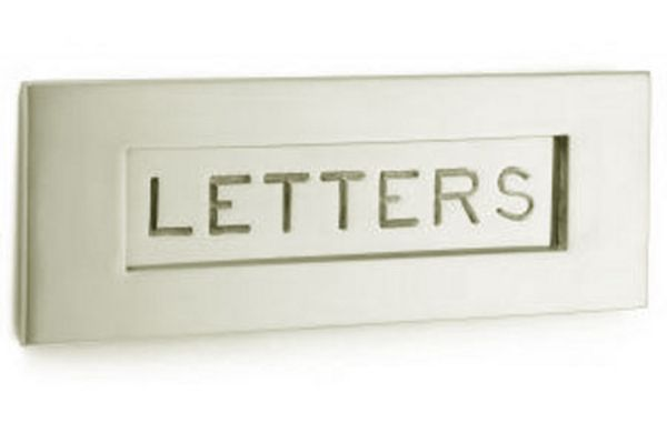 'Letters' Letterplate 305 x 107 mm