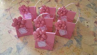 BellesCreations.gr: Πρόσκληση τσαντούλα με λουλούδι