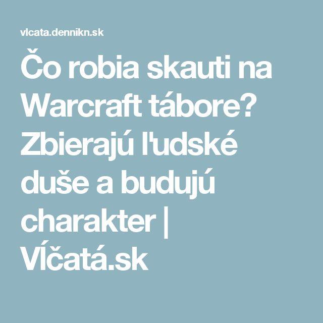 Čo robia skauti na Warcraft tábore? Zbierajú ľudské duše a budujú charakter | Vĺčatá.sk