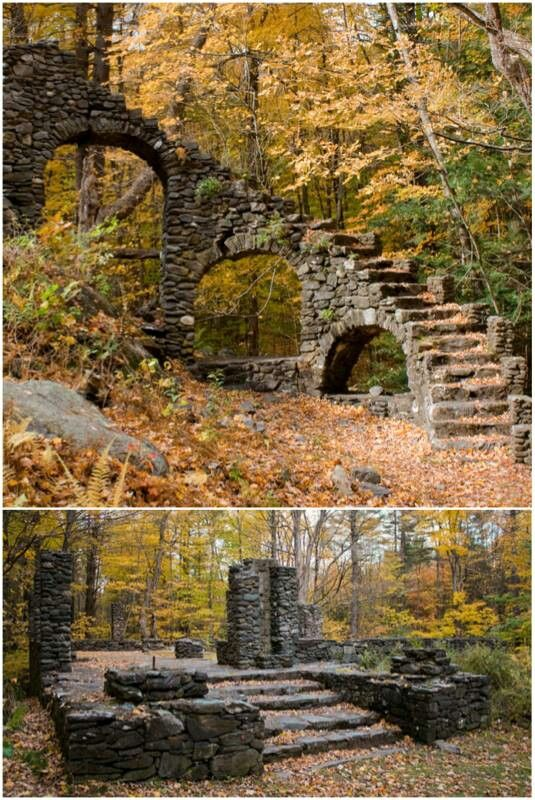 Abandoned castle in the woods... If those stones could talk.                                                                                                                                                                                 More