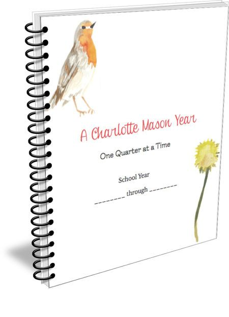 The Charlotte Mason Quarterly Printable Planner PDF download includes:  A lovely cover page with blank dates so that you can use the planner over each year. 4 dividers that have lovely watercolor illustrations and Charlotte Mason quotes. Quarterly Panning sheets. Weekly planning sheets that may be printed for each child. Quarterly review sheets. Mother's Journal page to incorporate where you like. A primary lined notebooking page. An elementary lined notebooking page. A field trip ...